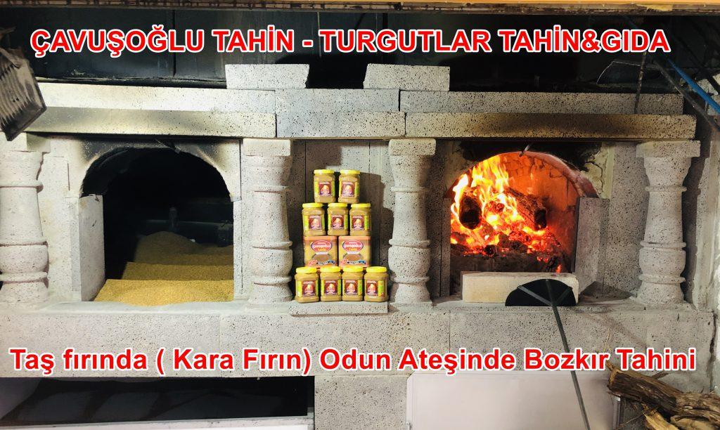 odun ateşinde Bozkır tahini kara fırın